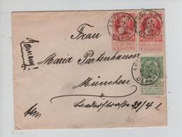 RERF3523/ TP 74 (2) GB-56 S/L. C.Anvers Départ 1906 > München Allemagne C.d'arrivée - 1905 Grosse Barbe