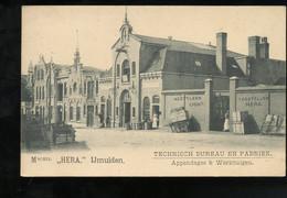 ± 1900 IJmuiden HERA Technisch Bureau En Fabriek, Dames, Karren, Tonnen, Etc (151-15) - IJmuiden