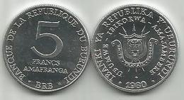 Burundi 5 Francs  1980. High Grade - Burundi