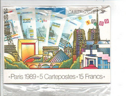 SERIE ENTIER NEUVE PANORAMA DE PARIS 1989 - Postales Tipos Y (antes De 1995)