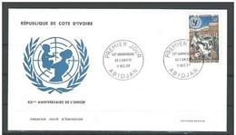 Cote Ivoire FDC YT 256  UNICEF 1966 - Costa De Marfil (1960-...)