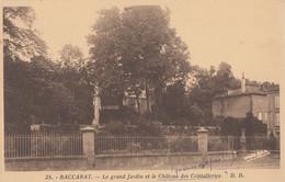 Baccarat 54 - Le Grand Jardin Et Château Des Cristallerie - Editeur DD N° 25 - Baccarat