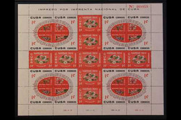 1960 Christmas Flowers 1c, 2c, And 10c, SG 961/966d, Each As Complete Sheetlets Of 25 Comprising 9 Stamps As A Centre Cr - Sin Clasificación
