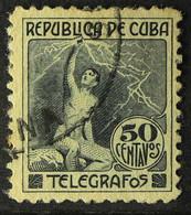TELEGRAPH STAMP 1916 50c Black, Barefoot 110, Fine Used. For More Images, Please Visit Http://www.sandafayre.com/itemdet - Sin Clasificación