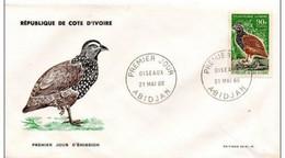 FDC COTE-D'IVOIRE. N° 252 De 1966 Oiseaux - Costa De Marfil (1960-...)