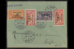 SYRIA 1922 Air Post Set, Yv 10/13, Used On A (slightly Trimmed At Left) Cover Tied By Damas Cds. (1 Cover) For More Imag - Ohne Zuordnung