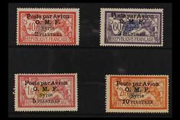 SYRIA 1922. O.M.F. Poste Par Avion Overprintedset, SG 89/92, Fine Mint (4 Stamps) For More Images, Please Visit Http:// - Ohne Zuordnung