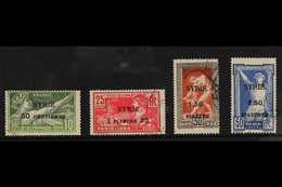 SYRIA 1924 Olympics Surcharged Set, Yv 122/25, Fine Used (4 Stamps) For More Images, Please Visit Http://www.sandafayre. - Ohne Zuordnung