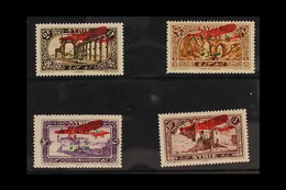 SYRIA 1925 Surcharged Set Bearing The Additional Red Aircraft Overprint, Yv 26PA/29PA, Maury 26A/29A (see Note In Yvert  - Ohne Zuordnung