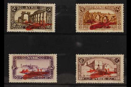 """SYRIA 1926 Air Post Set, Variety """"INVERTED SURCHARGES"""", Maury 34b, 35a, 36b/37b, SG 192a/95a. Fine Mint (4 Stamps) For M - Ohne Zuordnung"""