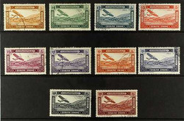 SYRIA 1934 Proclamation Of The Republic Air Set, Yvert 60/69 (SG 290/299), Very Fine Used (10 Stamps). For More Images,  - Ohne Zuordnung