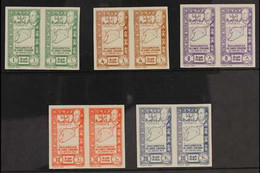 SYRIA 1943 Union Postage Complete IMPERF Set (Yvert 266/70, SG 367/71), Never Hinged Mint Horizontal IMPERF PAIRS. Very  - Ohne Zuordnung