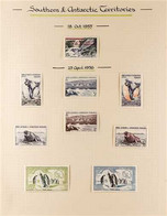 T.A.F.F. 1955-1966 MINT COLLECTION Presented On Pages That Includes The 1955 Surcharged 15f, 1956 Complete Wildlife Set, - Ohne Zuordnung
