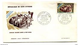 FDC Cote Ivoire YT N° 255  Peste Bovine 1966 - Costa De Marfil (1960-...)