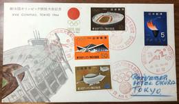 Japan Giappone XVIII Olympiad Olimpiadi Lympics Tokyo 1964 First Day Cover Cod.bu.383 - Cartas