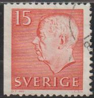 Suecia 1961 Scott 581 Sello º  King Gustav VI Adolf Michel 468Dl Yvert 460a Sweden Stamp Timbre Suède Briefmarke Sverige - Gebraucht