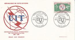 FDC Cote Ivoire 1965 U.I.T. - Costa De Marfil (1960-...)