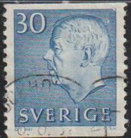 Suecia 1961 Scott 584 Sello º  King Gustav VI Adolf Michel 470Ero Yvert 464a Sweden Stamps Timbre Suède Sverige - Gebraucht