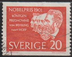 Suecia 1961 Scott 603 Sello º Premio Nobel Röntgen, Prudhomme, Von Behring And Vant Hoff Michel 482A Yvert 488Sw Sverige - Gebraucht