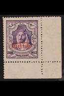 OCCUPATION OF PALESTINE 1948 200m Violet, Perf 14, SG P14a, Corner Marginal Never Hinged Mint. For More Images, Please V - Jordan