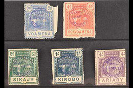BRITISH CONSULAR MAIL 1895 (March) 2d, 4d, 6d, 1s And4spictorials, SG57/60 Plus 62, Used On Pieces With Violet Consul - Non Classés