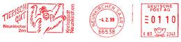 Freistempel Kleiner Ausschnitt 212 Affe Zoo Neunkirchen - Affrancature Meccaniche Rosse (EMA)