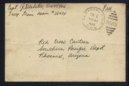 US Troop Train Railway Post Office 1945 Free Frank Cover With Fancy RMS Cancel And Content. - Cartas