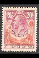 1925 20s Carmine-red And Rose-purple, SG 17, Fine Mint, Top Value. For More Images, Please Visit Http://www.sandafayre.c - Nordrhodesien (...-1963)