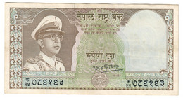 NEPAL10RUPEES1972P18VF/XFStain.CV. - Nepal