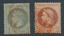 DX-637: FRANCE: Lot Avec N°25-26 Obl Rouge - 1863-1870 Napoleon III Gelauwerd