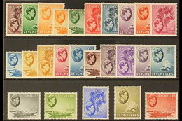 1938-49 King George VI Pictorial Definitives Complete Set, SG 135/149, Fine Mint. (25 Stamps) For More Images, Please Vi - Seychellen (...-1976)
