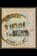 1903 5r Ultramarine And Violet, Overprint At Foot, SG 24, Fine Berbera Cds Used. For More Images, Please Visit Http://ww - Somaliland (Herrschaft ...-1959)