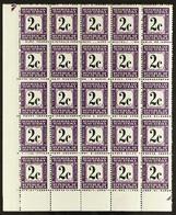 POSTAGE DUES 1971 2c Black & Deep Reddish Violet Perf 14Afrikaansat Top, SGD71, Never Hinged Mint Lower Left Corner B - Ohne Zuordnung
