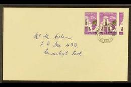 RSA VARIETY 1963-7 2½c Bright Reddish Violet & Emerald, Wmk RSA, GROSSLY MISPERFORATED PAIR On Cover, SG 230a, Neat ORAN - Ohne Zuordnung