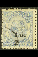 1893 (black Surcharge) ½d On 1d Dull Blue (as SG 19) With FRACTION BAR COMPLETELY MISSING, Used. For More Images, Please - Tonga (...-1970)