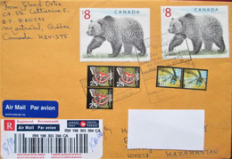 Canada  Registered Mail Envelope  To Kazakhstan - Covers & Documents