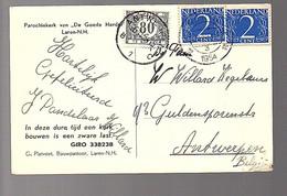 Parochiekerk De Goede Herder Laren G. Platvoet 1954 POSTAGE DUE BELGIUM > Antwerpen (FA-13) - Covers & Documents