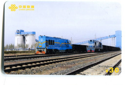 Télécarte China Unicom : Train - Trenes