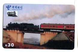 Télécarte China Telecom : Train - Trenes