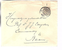 IMPERFORATED 10 Cents Helder 1924 To Baarn Prof.dr. Jacob Willem (Jacob Willem) Langelaan (FA-73) - Covers & Documents
