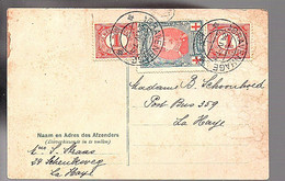 Mixed Franking 1917 Belgium Netherlands Red Cross WW I (FA-39) - Covers & Documents