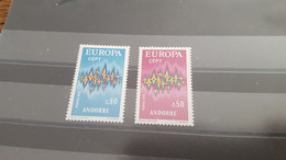 LOT532313 TIMBRE DE ANDORRE NEUF** LUXE N°217/218 VALEUR 41 EUROS - Collections