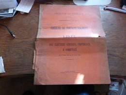 Commune De Fontaine-Valmont Liste Des électeurs Généraux, Provinciaux & Communaux Du 1/5/1912 Au 30/4/1913 - Historical Documents