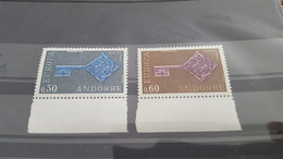 LOT532316 TIMBRE DE ANDORRE NEUF** LUXE N°188/189 VALEUR 25 EUROS - Collections