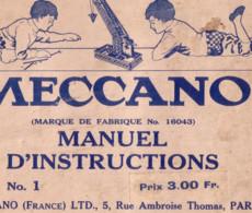 """Manuel D'instruction """"MECCANO - N° 16 - 136 Pages.. Format 17 X 23 Cm - Imprimé En Angleterre En 1916. Bon état. 2 Scan. - Model Making"""