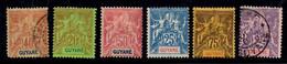 Guyane Six Bonnes Valeurs Anciennes 1892/1904. B/TB. A Saisir! - Unused Stamps