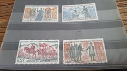 LOT532324 TIMBRE DE ANDORRE NEUF** LUXE N°167 A 170 VALEUR 85 EUROS - Collections