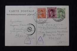 EGYPTE - Entier Postal + Compléments De Alexandrie Pour Paris Avec Cachet De Censure En 1945 - L 89583 - Cartas