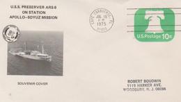 N°1259 N -lettre (cover) - USS Preserver Ars-8 On Station - USA