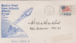 N°1257 N -lettre (cover) - Véritable Signature Hank Hartsfield Commandant Disceovery - USA